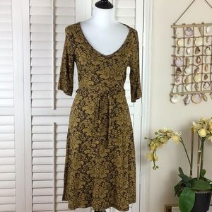 Brown and Gold Athleta Dress Size M